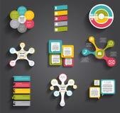 Inzameling van Infographic-Malplaatjes voor Zaken Stock Afbeelding