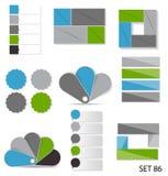 Inzameling van Infographic-Malplaatjes voor Zaken Royalty-vrije Stock Foto's