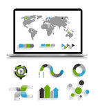 Inzameling van Infographic-Malplaatjes voor Zaken Stock Fotografie