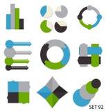 Inzameling van Infographic-Malplaatjes voor Zaken Stock Foto's