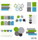Inzameling van Infographic-Malplaatjes voor Zaken Stock Afbeeldingen