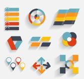 Inzameling van Infographic-Malplaatjes voor Zaken Vectorillustra Royalty-vrije Stock Fotografie
