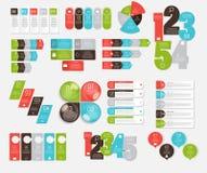 Inzameling van Infographic-Malplaatjes voor Zaken Vectorillustra Royalty-vrije Stock Foto's