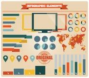 Inzameling van infographicselementen, vector Stock Foto