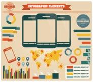 Inzameling van infographicselementen, vector Royalty-vrije Stock Foto