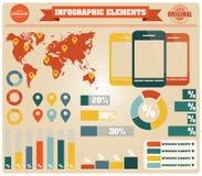 Inzameling van infographicselementen, vector Stock Fotografie