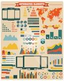 Inzameling van infographicselementen, vector Royalty-vrije Stock Foto's