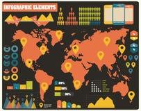Inzameling van infographicselementen, vector Royalty-vrije Stock Fotografie