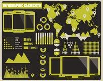 Inzameling van infographicselementen, vector Stock Afbeeldingen