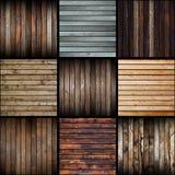 Inzameling van interessante abstracte houten planken royalty-vrije stock afbeeldingen