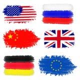 Inzameling van internationale vlaggen Royalty-vrije Stock Fotografie