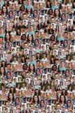 Inzameling van jongeren achtergrondcollage grote groep stock afbeeldingen