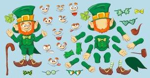 Inzameling van Kabouter voor het ontwerp van Heilige Patricks stock illustratie
