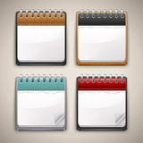 Inzameling van kalenderpictogrammen Stock Foto