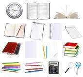 Inzameling van kantoorbehoeften voor het bureau. Vector. Royalty-vrije Stock Foto's