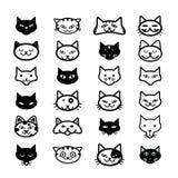 Inzameling van kattenpictogrammen, illustratie Stock Fotografie