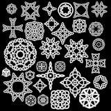 Inzameling van Keltisch, 30 patronen, een reeks vectoren Royalty-vrije Stock Fotografie