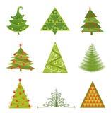 Inzameling van Kerstbomen Stock Afbeeldingen