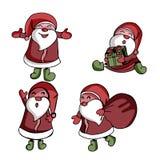 Inzameling van Kerstmis Santa Claus stock illustratie