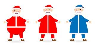 Inzameling van Kerstmis vectorsanta claus, Sinterklaas Nieuwe jaarillustratie royalty-vrije illustratie