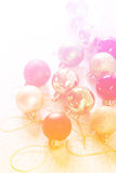 Inzameling van Kerstmisballen met kleurenfilters die wordt gemaakt Royalty-vrije Stock Foto