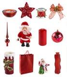 Inzameling van Kerstmisdecoratie stock afbeelding