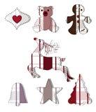 Inzameling van Kerstmiselementen Royalty-vrije Stock Afbeelding