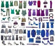 Inzameling van kleding en schoenen Stock Afbeelding
