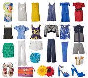 Inzameling van kleding en schoenen royalty-vrije stock afbeeldingen