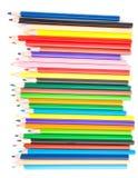 Inzameling van kleurpotloden Royalty-vrije Stock Foto