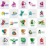 Inzameling van kleurrijke abstracte origamiemblemen Royalty-vrije Stock Afbeeldingen