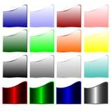 Inzameling van kleurrijke banners Royalty-vrije Stock Foto