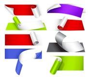 Inzameling van kleurrijke documenten stock illustratie