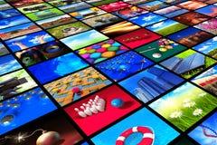 Inzameling van kleurrijke foto's Stock Foto's