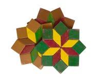 Inzameling van kleurrijke geïsoleerde onderleggers voor glazen Stock Afbeelding