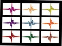 Inzameling van kleurrijke linten Stock Afbeeldingen