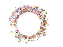 Inzameling van Kleurrijke Parelsdecoratie Stock Afbeelding