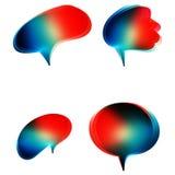 Inzameling van kleurrijke toespraak en gedachte bellen Stock Afbeelding