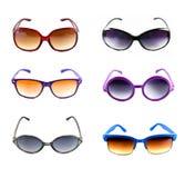 Inzameling van kleurrijke zonnebril Stock Foto