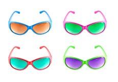 Inzameling van kleurrijke zonnebril Stock Afbeeldingen