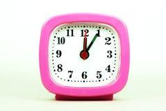 Inzameling van klok van 12:00 aan 1:00 AM en PM in whi wordt geïsoleerd die Stock Afbeelding
