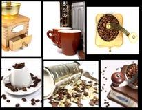 Inzameling van koffie nog lifes Stock Afbeeldingen