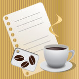Inzameling van koffie vector grafische ontwerpen Royalty-vrije Stock Foto