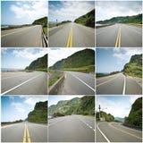 Inzameling van kustweg Stock Foto