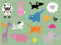 Inzameling van leuke dieren vector illustratie