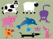 Inzameling van leuke dieren - 2 stock illustratie