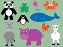 Inzameling van leuke dieren - 3 royalty-vrije illustratie