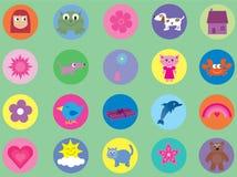 Inzameling van leuke pictogrammen voor jonge geitjes - 2 royalty-vrije illustratie