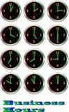 Inzameling van lichtgevend klokkenuur Royalty-vrije Stock Foto