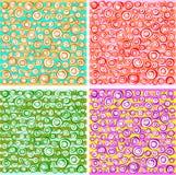Inzameling van lijn de spiraalvormige concentrische cirkels in verschillende kleur Royalty-vrije Stock Afbeelding